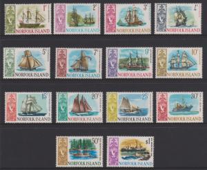 Norfolk Island 1967 Ships Sc#100-113 MH