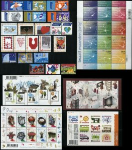 NETHERLANDS Booklet Pane Postage Stamp Sheet Collection 2008 Mint NH
