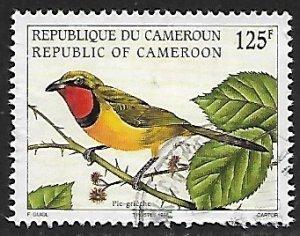 Cameroon - # 926 - Four-colored Bushshrike - used....{BRN9}