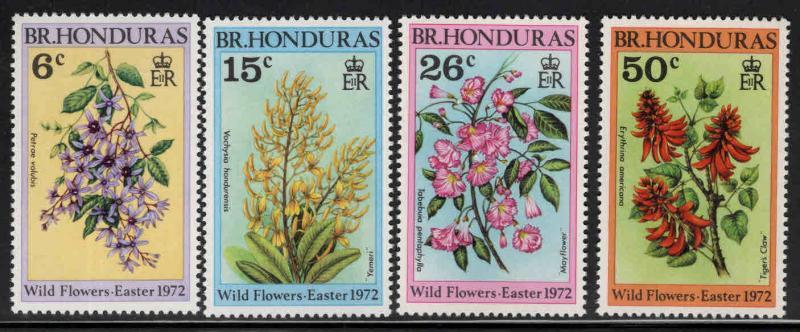 British Honduras Scott 292-295 MNH** 1972 Wildflower set