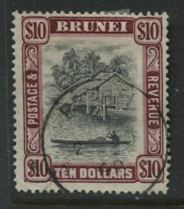 Brunei 1948 $10 used