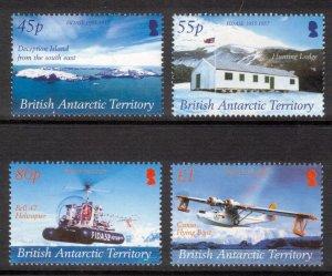 BRITISH ANTARCTIC 2005 FIDASE Anniversary; Scott 353-56, SG 403-06; MNH