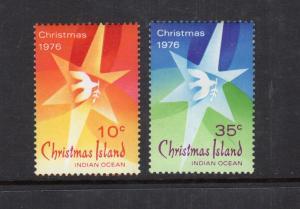 Christmas Island  1976  2 var..mnh