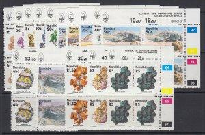Namibia, Scott 674-689, MNH blocks of four