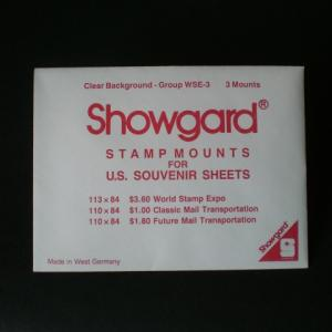 Mounts Showgard,world stamp expo (3ea. Clear) (00710C)