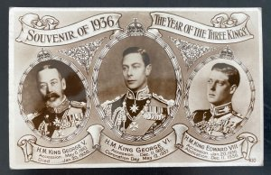 1937 Windsor Canada Postcard Cover To USA King George VI Coronation 3 Kings Stam