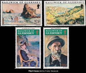 Guernsey MNH 115-8 Paintings 1974
