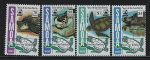 SAMOA, 895-898, MNH, 1995, YEAR OF THE SEA TURTLE