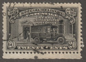 USA Stamp, Scott# E-14, used, special delivery, mail truck, 20 cents, black#E-14