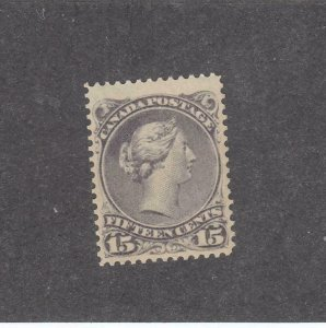 CANADA # 30 VF-MNH 15cts LARGE QUEEN FULL GUM CAT VALUE $360