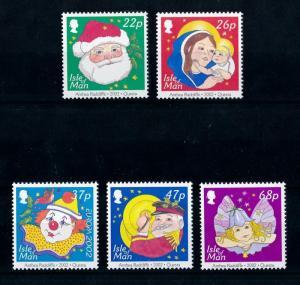 [72838] Isle of Man 2002 Christmas Santa Clown Maria Angel  MNH