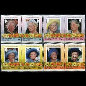 VIRGIN IS. 1985 - Scott# 509-16 Queen Mother Set of 8 NH