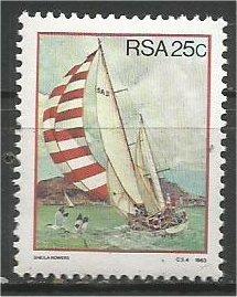 SOUTH AFRICA, 1983, MNH 25c,  Sailing Scott 620