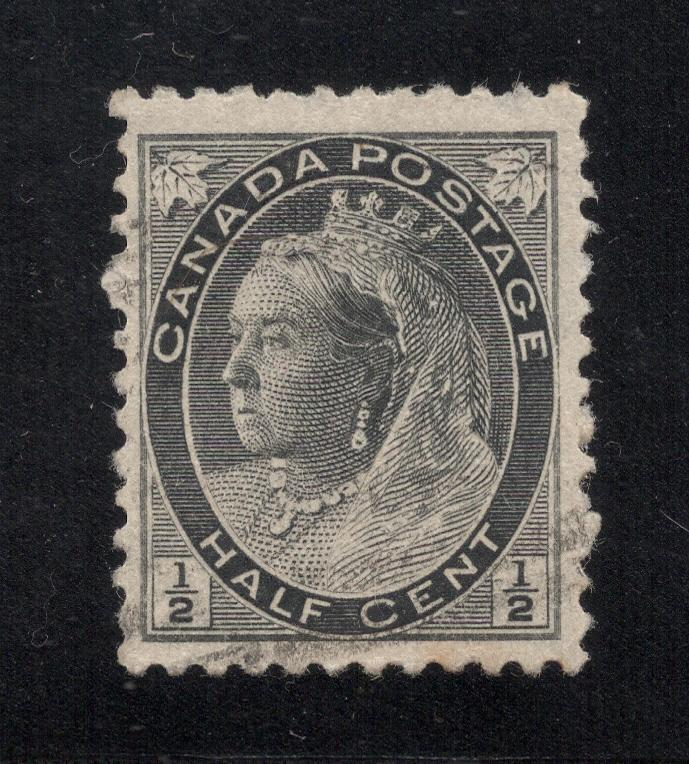 Canada #74 Black - 1/2 Cent - Used
