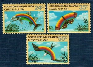 Cocos Islands 122-24 MNH Christmas (SCV $2.00)