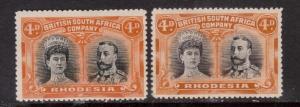 Rhodesia #106 #106a VF Mint Duo
