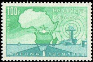 Gabon #260, Complete Set, 1970, Never Hinged