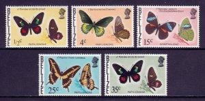 BELIZE — SCOTT 345a//355A — 1975-78 BUTTERFLY ISSUE WMK. 373  — MNH — SCV $30