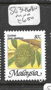 MALAYA MALAYSIA (P1001B) FRUIT 80C  SG 346AW  MNH