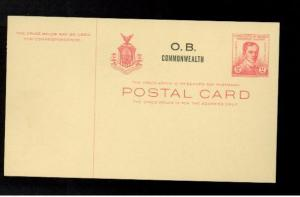 Mint Philippines postal stationery card 2 centavos #U25