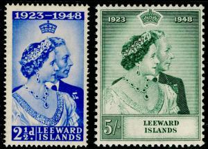 LEEWARD ISLANDS SG117-118, COMPLETE SET, NH MINT. RSW.