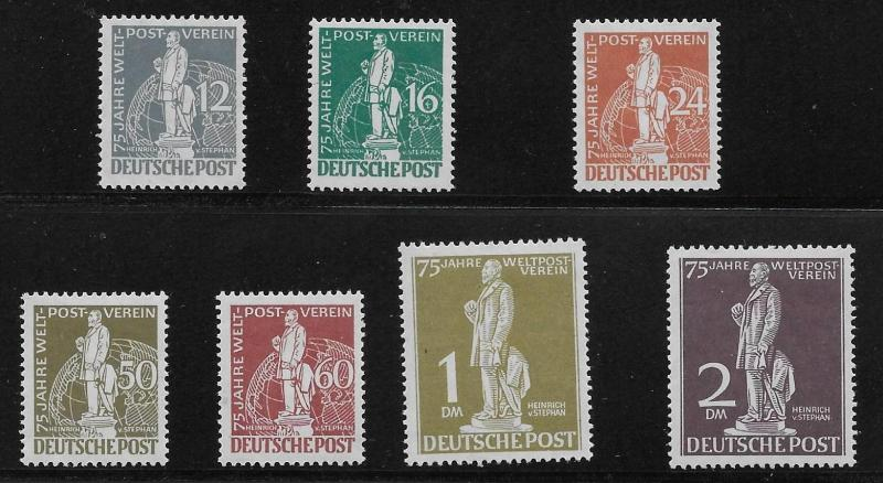 Germany Berlin 9N35-41 75th UPU set MLH (z3)