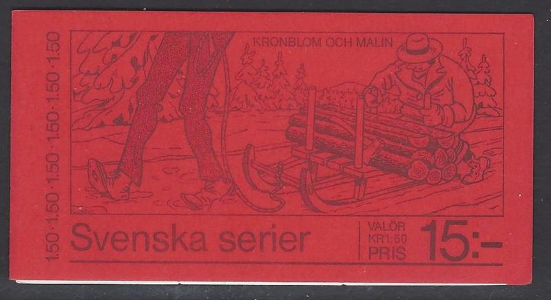 Sweden 1980 Comic Christmas Booklet VF MNH (1338a)