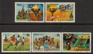 Lesotho   #291-95  used  (1980)  c.v. $2.25