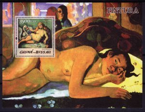 Guinea-Bissau 2005 PAUL CEZANNE Nudes paintings s/s Perforated Mint (NH)