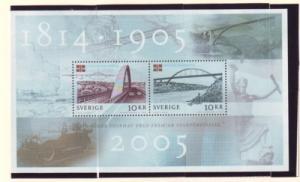 Sweden Sc 2514 2005 Dissolution Norway stamp sheet mint NH