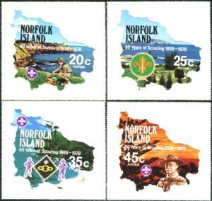 Norfolk Island 1978 SG209-212 Scouts set MNH