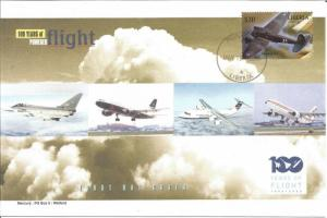 100 Years Of Flight First Day Cover - Heinkel He 111 - 2004 Liberia Z5512