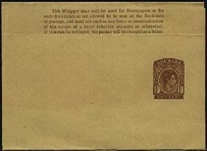 GRENADA GVI ½c newspaper wrapper fine unused - scarce,,,,,,,,,,,,,,,,,,,,,,19069