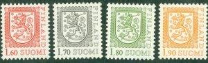 A2-0024 FINLAND 711-4 MNH SCV $3.40 BIN $1.75