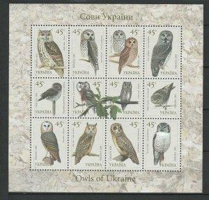 Ukraine 2003 Birds, Owls MNH Block