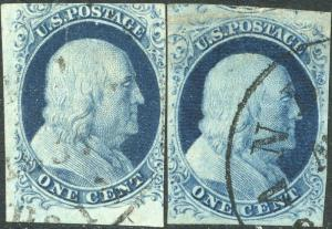#7 & #9 VF USED WITH BLACK CANCEL CV $260.00 BP0473