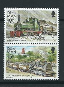Isle of Man MUH SG 376, 372 - 482  se-tenant pair 1988 Ra...