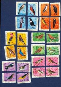 BURUNDI - 332-342  - FVF MNH set of 24 different -  BIRDS - 1970