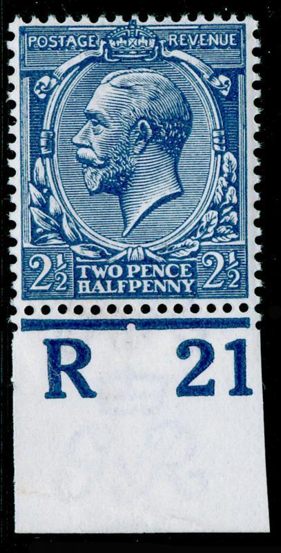 SG372 SPEC N21(-), 2½d greyish blue, NH MINT. UNLISTED. HENDON CERT. CONTROL R21