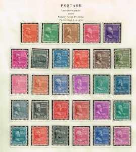US STAMP #803-831 50C 1938 Presidents, collection of 29 stamps mh/og