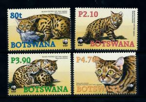 [78272] Botswana 2005 Wild Life Black-Footed Cat WWF  MNH