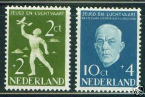 Netherlands Scott B269-70 MH* STAMPS CV$4.75