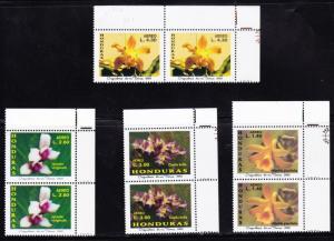 O) 2002 HONDURAS, ORCHIDS OF MY LAND,SET,MNH.