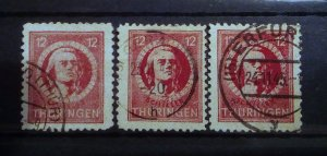 Germany Thuringen 97AX t paper used