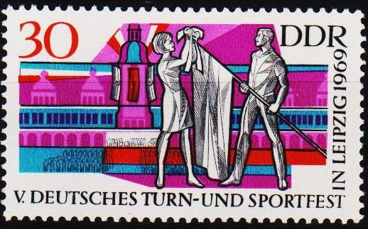 Germany(DDR).1969 30pf S.G.E1209 Unmounted Mint