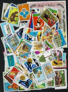 Belize Collection of 144 Different Stamps - Used