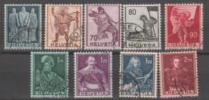 Switzerland stamps, used set ,9 stamps,  #M306