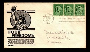 SC# 908 FDC / Anderson Cachet / Addressed - N479