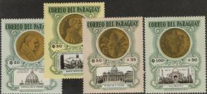 PARAGUAY MLH Scott # B16-B19 Popes John XXII & Paul VI (4 Stamps)