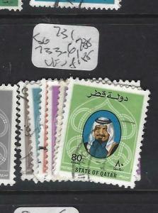 QATAR  (P0304BB)  SHEIKH  SG 731, 733-6, 738   VFU